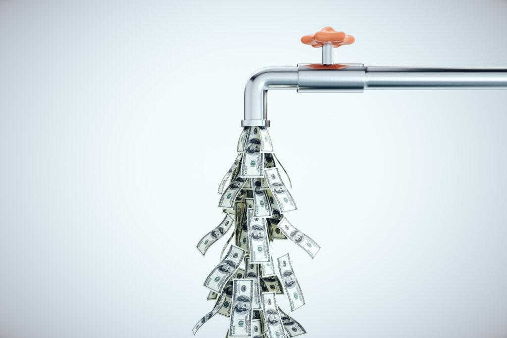 high water bills from broken water line